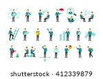 set different business people... | Shutterstock .eps vector #412339879
