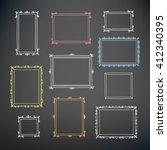 set of hand drawn decorative... | Shutterstock .eps vector #412340395
