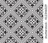 monochrome tile design.... | Shutterstock .eps vector #412346029