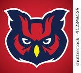 owl head mascot   Shutterstock .eps vector #412346539