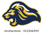angry lion head mascot | Shutterstock .eps vector #412346545