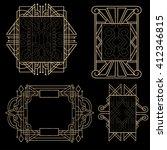 set of gold frames on black...   Shutterstock .eps vector #412346815