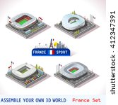 France Stadium Soccer Icons....