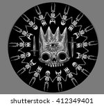 collection mystic symbols.... | Shutterstock . vector #412349401