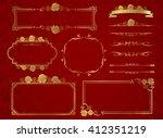 decorative frame set vector  | Shutterstock .eps vector #412351219
