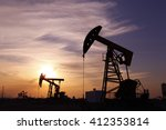 the oil rig  | Shutterstock . vector #412353814