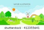 nature illustration | Shutterstock .eps vector #412355641