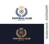 soccer club logo football logo... | Shutterstock .eps vector #412356499