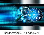 dark blue light abstract... | Shutterstock . vector #412364671