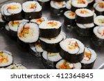 Beautifully Decorated Sushi On...