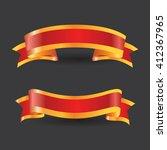 red gold banner ribbon vector... | Shutterstock .eps vector #412367965