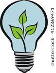 eco bulb   idea and ecology... | Shutterstock .eps vector #412369471
