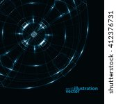 abstract technology  vector... | Shutterstock .eps vector #412376731
