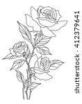 rose line | Shutterstock .eps vector #412379641