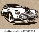 vector illustration of american ... | Shutterstock .eps vector #412381954
