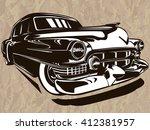 vector illustration of american ... | Shutterstock .eps vector #412381957
