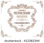 vintage frame for logo ... | Shutterstock .eps vector #412382344