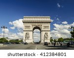 arc de triomphe against nice... | Shutterstock . vector #412384801