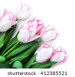 Bouquet Of Fresh Tulips On A...