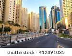 dubai marina in a summer day ...   Shutterstock . vector #412391035