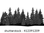 Forest. Silhouettes Of...