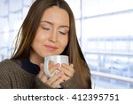 business woman coffee cup | Shutterstock . vector #412395751