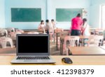 notebook computer on the table  ... | Shutterstock . vector #412398379