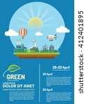 green information with ecology... | Shutterstock .eps vector #412401895