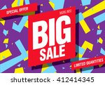 big sale banner template design | Shutterstock .eps vector #412414345