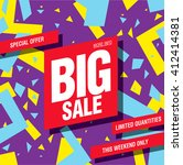 big sale banner template design | Shutterstock .eps vector #412414381