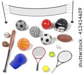 3d renderings of sport... | Shutterstock . vector #412414609