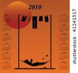 2010 calendar with woman...   Shutterstock .eps vector #41241517