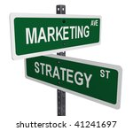 simple marketing and strategy...   Shutterstock . vector #41241697