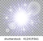 glow light effect. star burst... | Shutterstock .eps vector #412419361