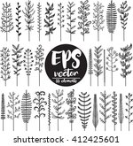 set of branches | Shutterstock .eps vector #412425601