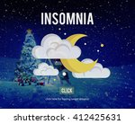 insomnia hangover bad dreams... | Shutterstock . vector #412425631
