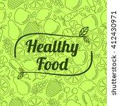 healthy food   motivational... | Shutterstock .eps vector #412430971