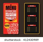 restaurant fast foods menu  on... | Shutterstock .eps vector #412430989