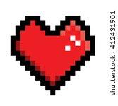 heart in pixel style | Shutterstock .eps vector #412431901