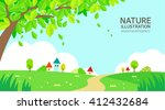 nature illustration | Shutterstock .eps vector #412432684