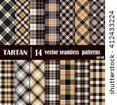 set tartan seamless pattern....   Shutterstock .eps vector #412433224