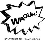 waouh  comic sound effect | Shutterstock .eps vector #412438711
