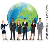 global multi ethnic team of... | Shutterstock .eps vector #412440991