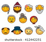 old people icons | Shutterstock . vector #412442251