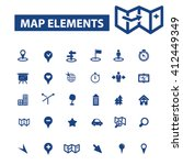 map elements icons  | Shutterstock .eps vector #412449349
