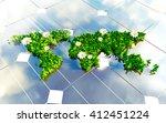 sustainable energy 3d...   Shutterstock . vector #412451224