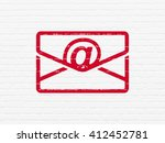 business concept  painted red... | Shutterstock . vector #412452781