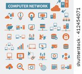 computer network icons  | Shutterstock .eps vector #412454071