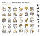 shopping and retail    thin... | Shutterstock .eps vector #412454671