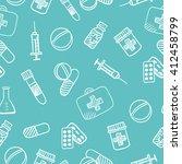 international nurse day card ... | Shutterstock .eps vector #412458799